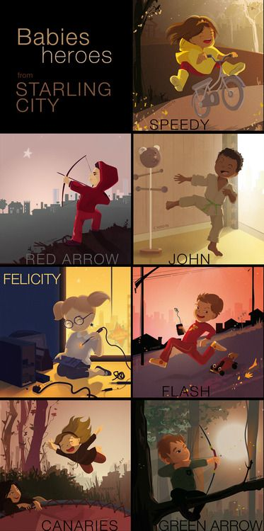 Baby heroes of Starling City