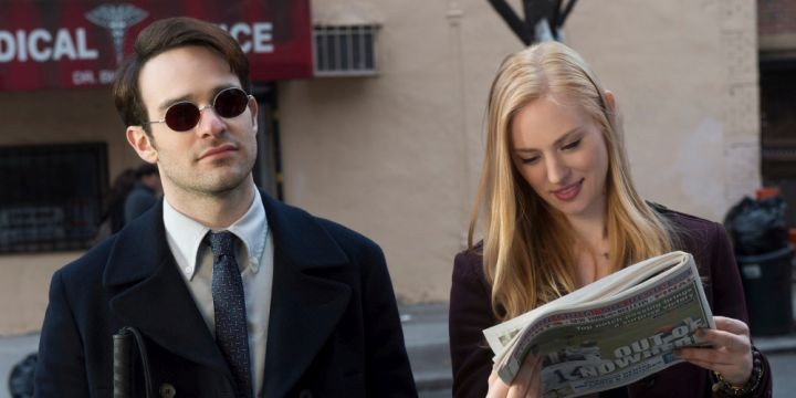 "Charlie Cox and Deborah Ann Woll in the original Netflix television series ""Daredevil."" CREDIT: Barry Wetcher, Netflix  [Via MerlinFTP Drop]"