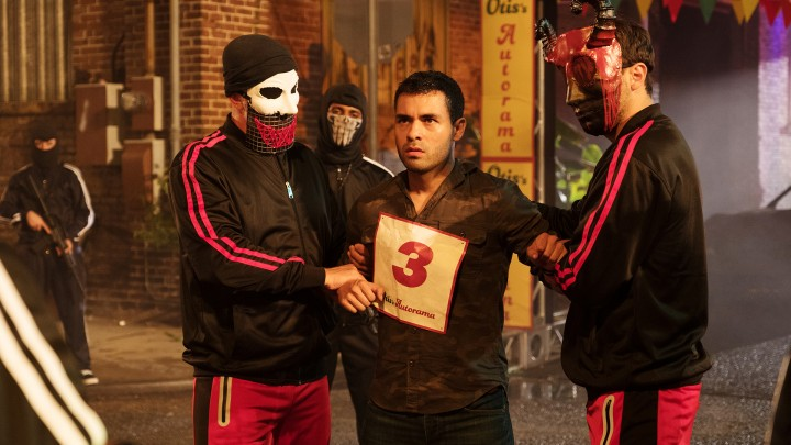 "THE PURGE -- ""Take What's Yours"" Episode 102 -- Pictured: Gabriel Chavarria as Miguel -- (Photo by: Patti Perret/USA Network)"