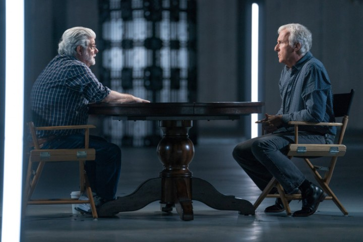 George Lucas, James Cameron - Story of Science Fiction _ Season 1, Episode 2 - Photo Credit: Michael Moriatis/AMC
