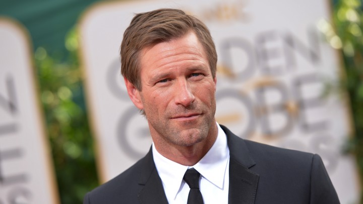 Aaron Eckhart arrives at the 71st annual Golden Globe Awards at the Beverly Hilton Hotel on Sunday, Jan. 12, 2014, in Beverly Hills, Calif. (Photo by John Shearer/Invision/AP)