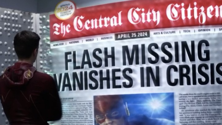 the flash desvanece en Crisis infinitas