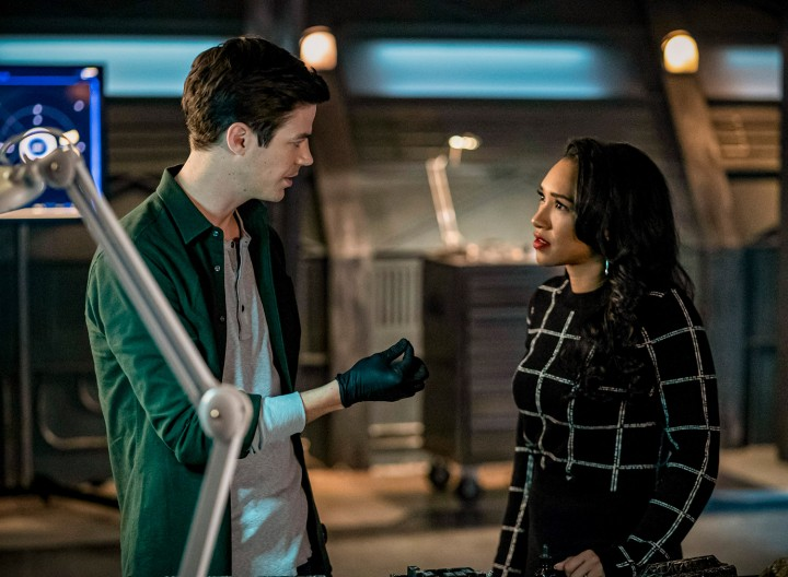 "The Flash -- ""So Long and Goodnight"" -- Image Number: FLA616b_0125b.jpg -- Pictured: Grant Gustin as Barry Allen and Candice Patton as Iris West - Allen -- Photo: Colin Bentley/The CW -- © 2020 The CW Network, LLC. All rights reserved"