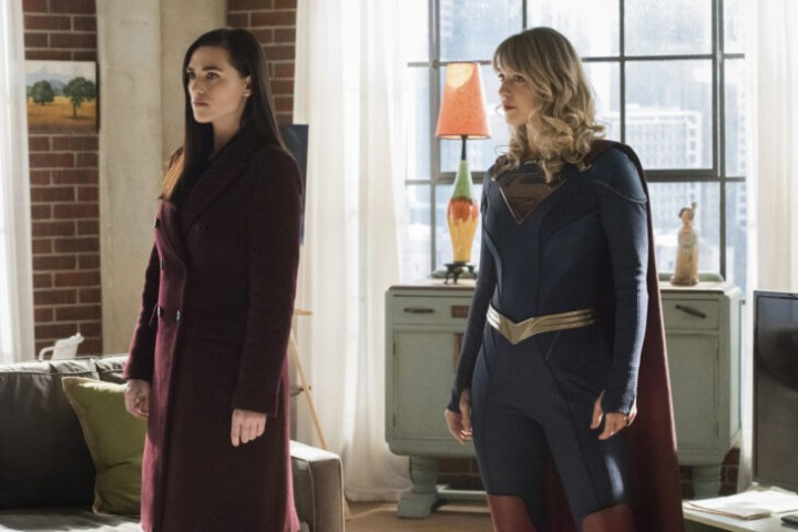 "Supergirl -- ""Immortal Kombat"" -- Image Number: SPG519A_0262r.jpg -- Pictured (L-R): Katie McGrath as Lena Luthor and Melissa Benoist as Kara/Supergirl -- Photo: Dean Buscher/The CW -- © 2020 The CW Network, LLC. All rights reserved."